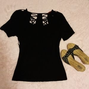 Red by bke, black cut out top